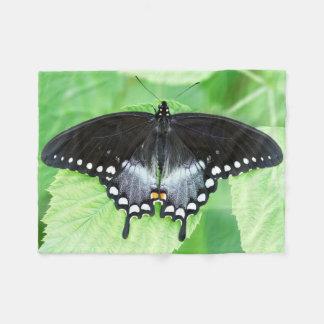 Small Spicebush Swallowtail Fleece Blanket