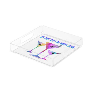 SMALL SQUARE TRAY - MY DIET ENDS AT HAPPY HOUR