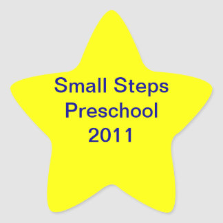 Small Steps 2011 Star Sticker