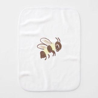 Small sweet bee burp cloth