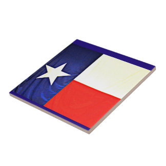 Small Texas Flag Ceramic Tile