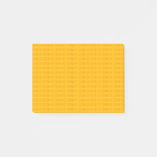 Small Text Template | Orange Post-it Notes