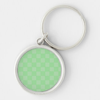 Small Textured Green Patchwork Pattern Keychains