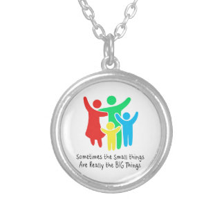 Small Things are Really the Big Things Silver Plated Necklace