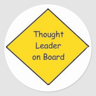 Small Thought Leader on Board - (1.5 inch) Round Sticker