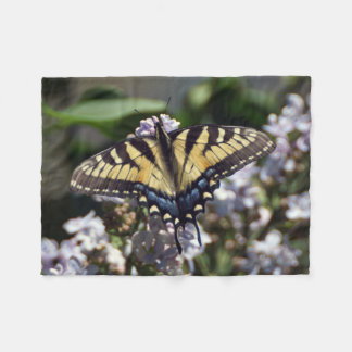 Small Tiger Swallowtail Butterfly Fleece Blanket