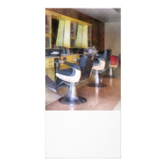 Small Town Barber Shop Personalized Photo Card