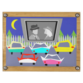 Small Town Drive-In Movie Cheese Board Rectangular Cheeseboard