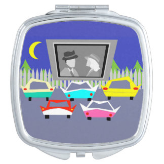 Small Town Drive-In Movie Compact Mirror