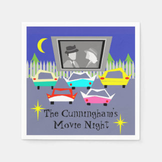 Small Town Drive-In Movie Disposable Napkins