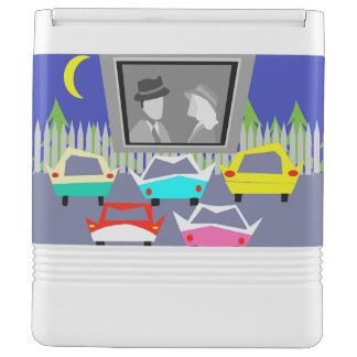 Small Town Drive-In Movie Igloo Can Cooler