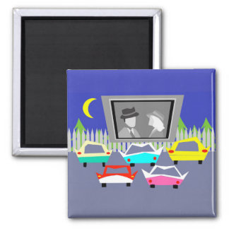 Small Town Drive-In Movie Magnet