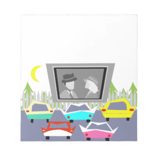 Small Town Drive-In Movie Notepad