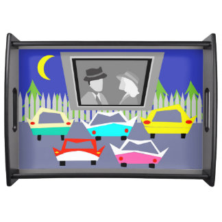 Small Town Drive-In Movie Serving Tray