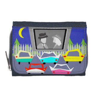 Small Town Drive-In Movie Wallet with Coin Purse