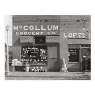 Small Town Grocery Store, 1935 Postcard