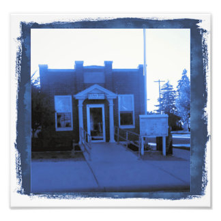 """""""Small Town Post Office"""" in Cyanotype Photo"""