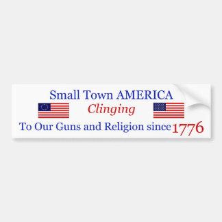 Small Town Proud Bumpersticker Bumper Sticker