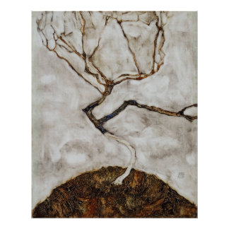 Small Tree In Late Autumn by Egon Schiele Poster