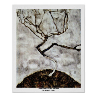 Small Tree In Late Autumn By Schiele Egon Poster