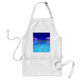 Small Tropical Paradise Standard Apron