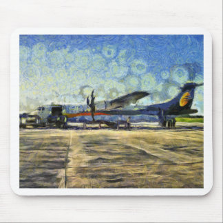 Small turboprop plane mouse pad