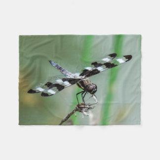 Small Twelve Spotted Skimmer Fleece Blanket