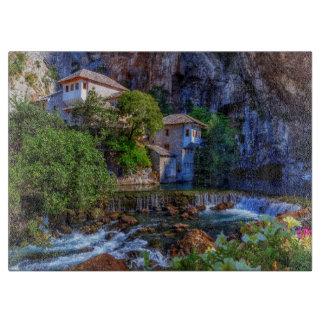 Small village Blagaj on Buna waterfall, Bosnia and Boards