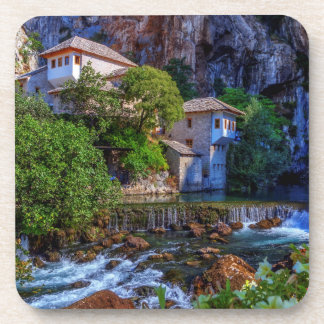 Small village Blagaj on Buna waterfall, Bosnia and Coaster
