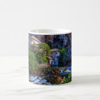 Small village Blagaj on Buna waterfall, Bosnia and Coffee Mug