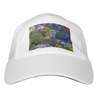 Small village Blagaj on Buna waterfall, Bosnia and Hat