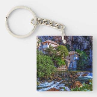 Small village Blagaj on Buna waterfall, Bosnia and Keychain