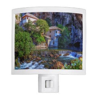 Small village Blagaj on Buna waterfall, Bosnia and Nite Lite