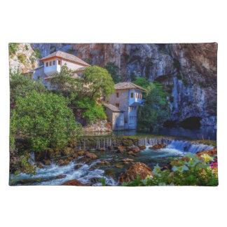 Small village Blagaj on Buna waterfall, Bosnia and Placemat