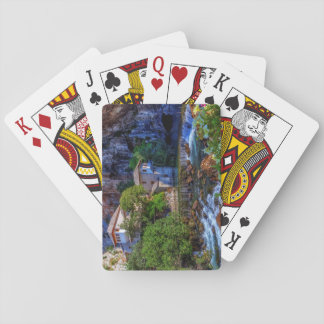 Small village Blagaj on Buna waterfall, Bosnia and Poker Deck
