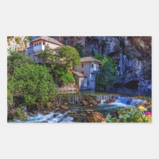 Small village Blagaj on Buna waterfall, Bosnia and Sticker