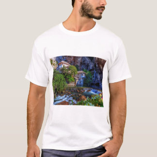 Small village Blagaj on Buna waterfall, Bosnia and T-Shirt
