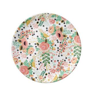 Small Vintage Floral plate Porcelain Plate