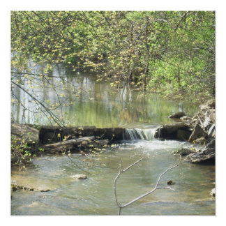 Small Waterfall On Mill Creek Perfect Poster