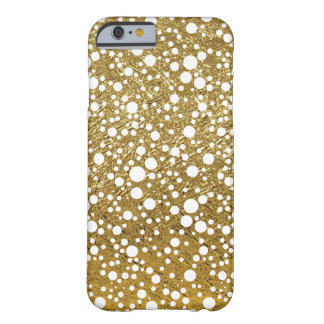 small white dots on gold-color barely there iPhone 6 case