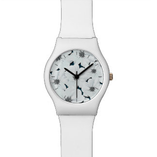 Small white flowers watch