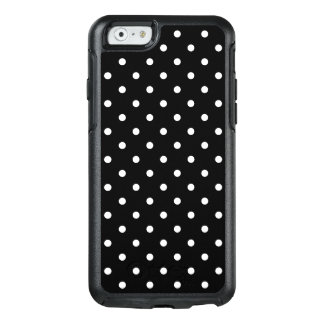 Small White Polka dots black background OtterBox iPhone 6/6s Case