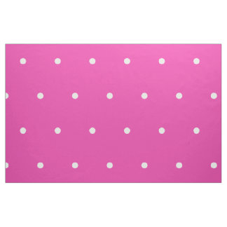 Small White Polka Dots on Diva Pink Fabric