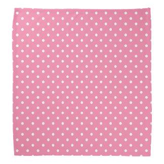 Small White Polka Dots on hot pink Bandanas