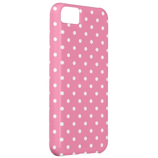 Small White Polka Dots on hot pink iPhone 5C Covers