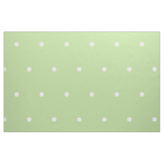Small White Polka Dots on Mint Green Fabric