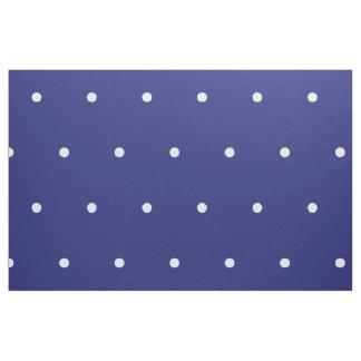 Small White Polka Dots on Nautical Blue Fabric