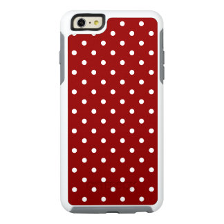 Small White Polka dots red background OtterBox iPhone 6/6s Plus Case