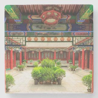 Small Wild Goose Temple, China Stone Beverage Coaster