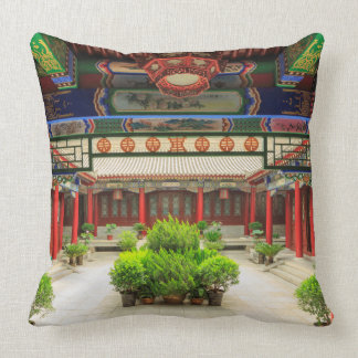 Small Wild Goose Temple, China Throw Pillow